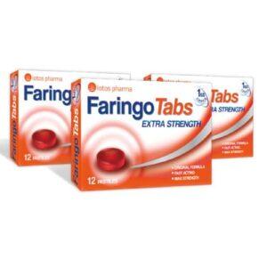 3x Faringo Tabs, 12 pastilas