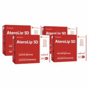 4x AteroLip 5D, 30 kapsulas -  2 mēnešu kurss