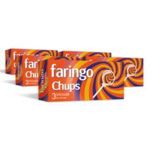 5x Faringo Chups, 3 pastilas