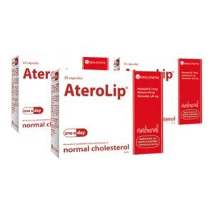 3x AteroLip, 30 kapsulas – 3 mēnešu kurss