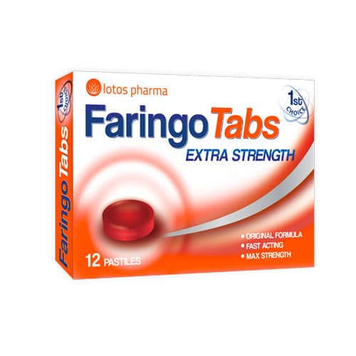 Faringo Tabs, 12 pastilas