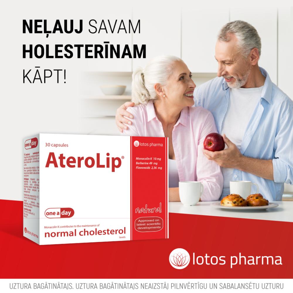 AteroLip holesterīna kontrolei