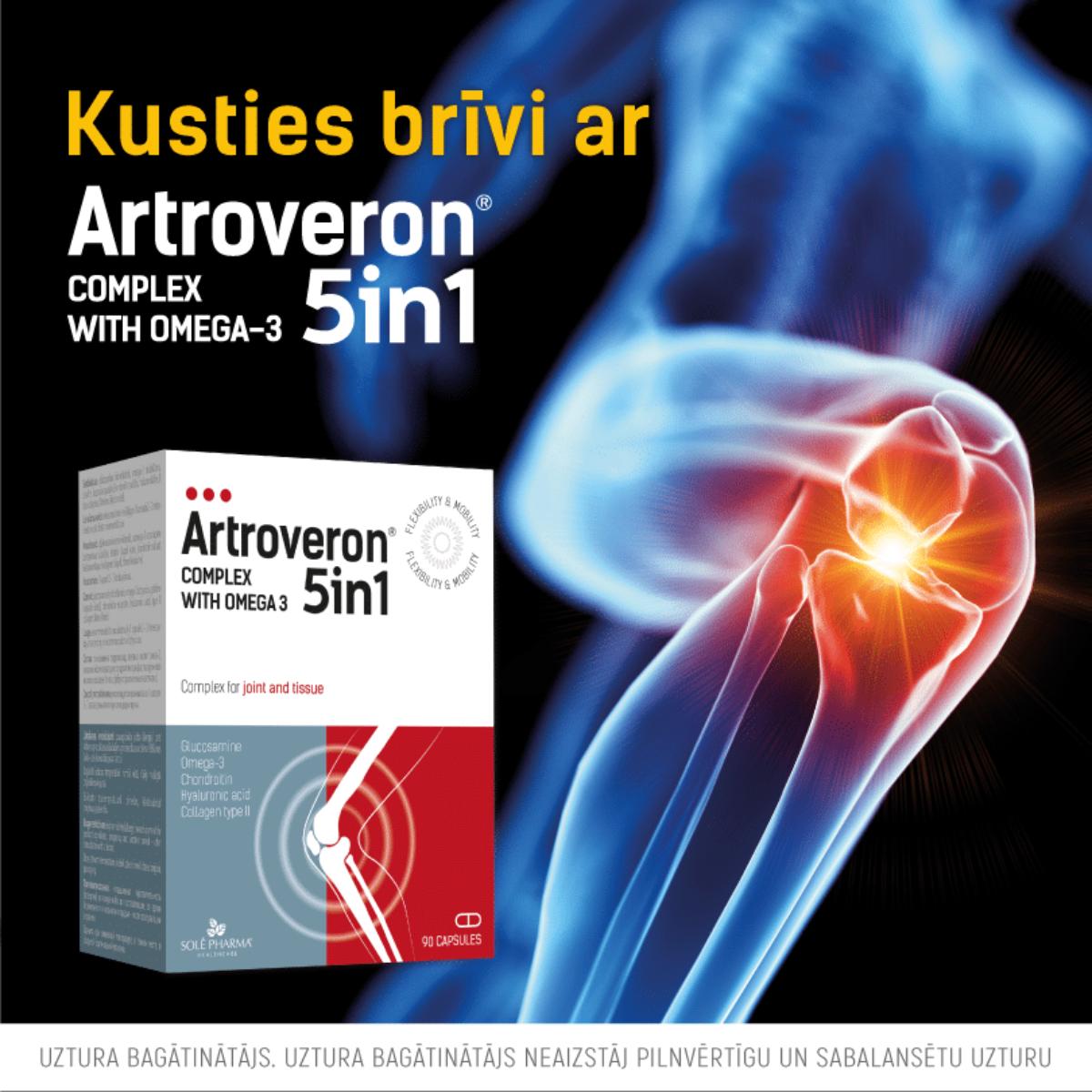 Artroveron 5 in 1 efektīvs locītavu sāpju uzveikšanai