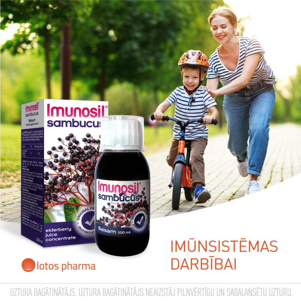 Latvijā ražots produkts imunitāteti Imunosil Sambucus