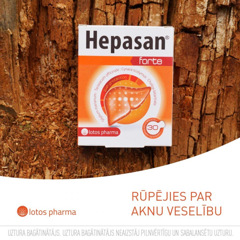 Hepasan Forte kvalitatīvs produkts aknu veselībai